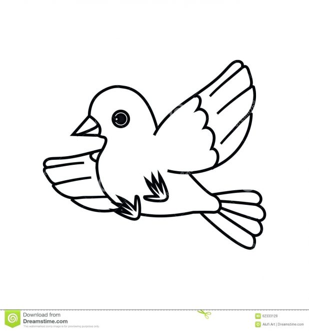 618x661 Coloring Astounding Outline Of Bird. Outline Bird Drawing