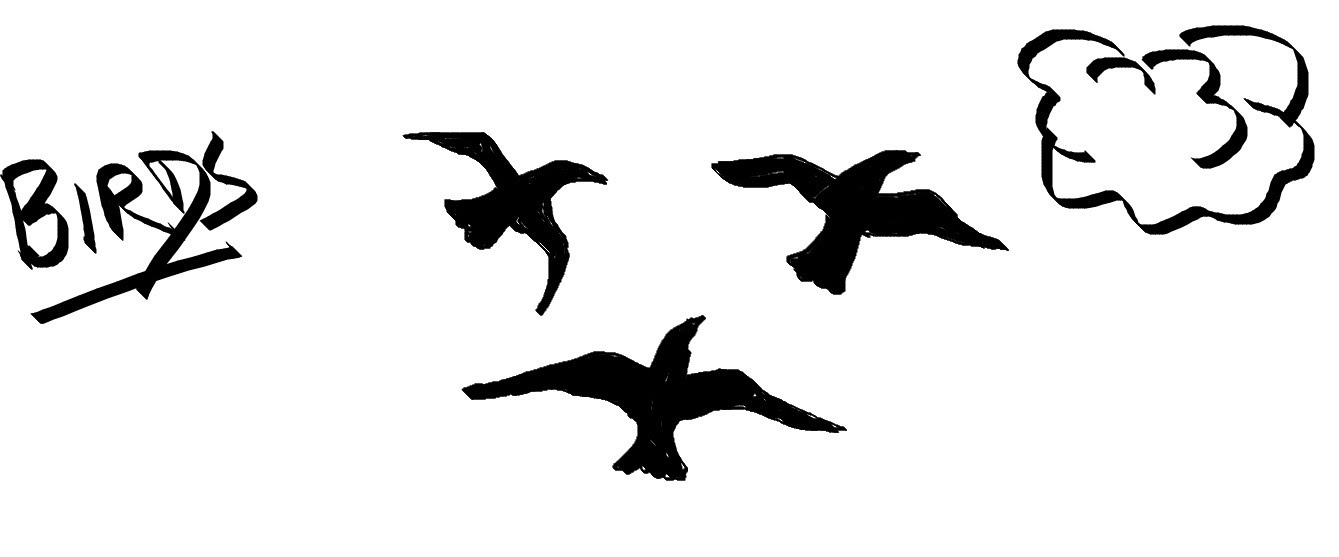 Flying Bird Drawing | Free download best Flying Bird ... Flying Birds Drawing For Kids