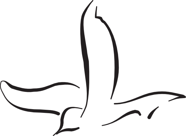 600x441 Flying Bird Art Clip Art