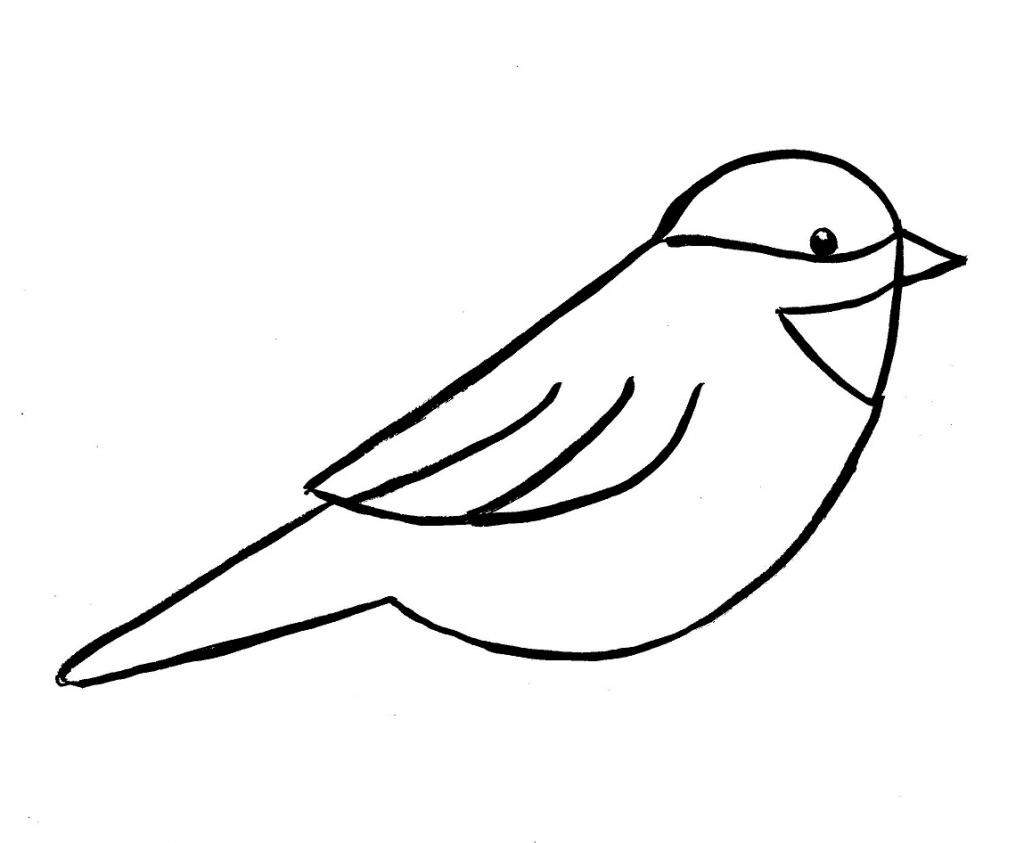 1024x843 Simple Drawing Of Bird Simple Flying Bird Drawing Cu Designs