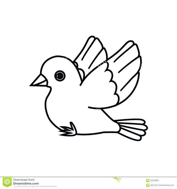 618x661 Birds Outline Drawings A Free Bird Hummingbird Drawing Flying Bird