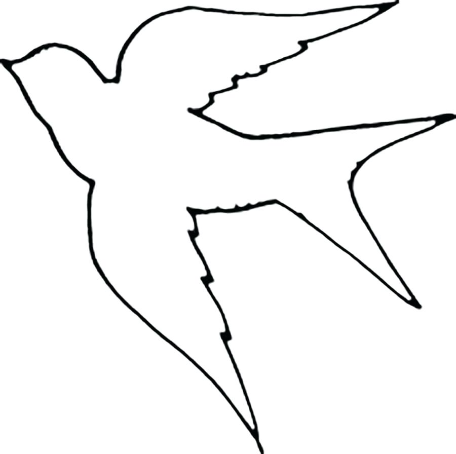 900x896 Tropical Parrot And Bird Head Black White Vector Outline Stock 46