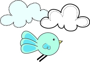 300x205 Bluebird Of Happiness Clipart Image