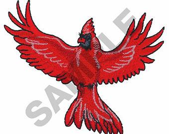 340x270 Cardinal In Flight Etsy