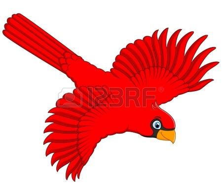 450x392 Flying Cardinal Bird Royalty Free Cliparts, Vectors, And Stock