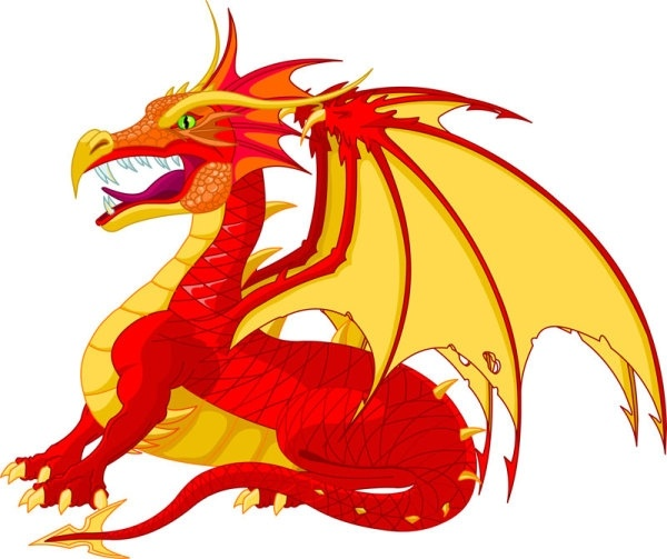 600x503 Flying Dragon Free Vector Download (1,994 Free Vector)