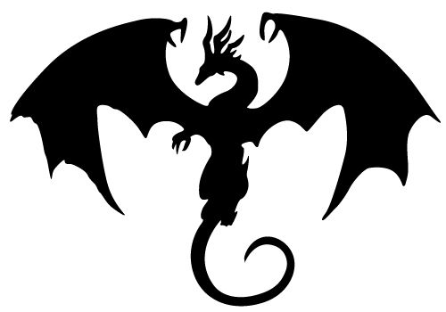 500x350 Flying Dragon Silhouette Free Clipart Images