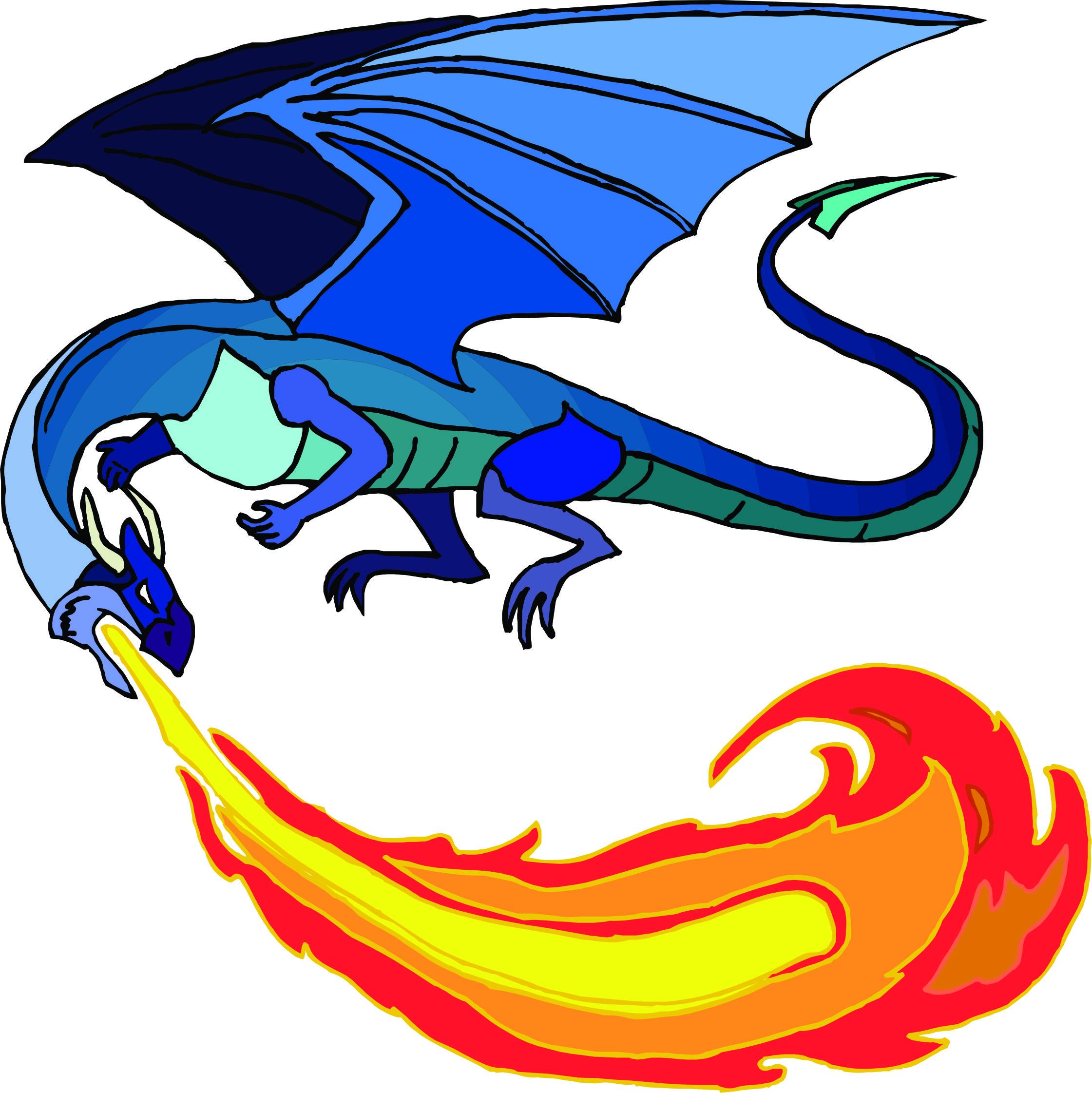 2241x2243 Blue Dragon Clipart Flying Dragon