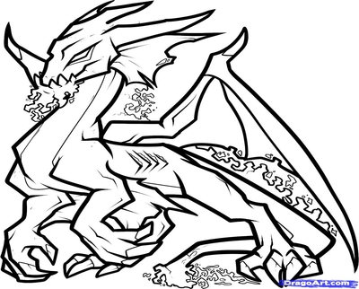 400x322 Dragon Coloring Pages Clip Art Shield