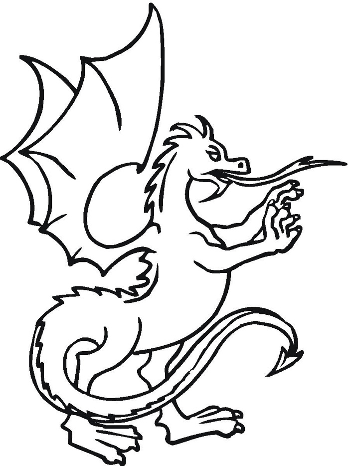 700x934 Dragon Coloring Pages Printable