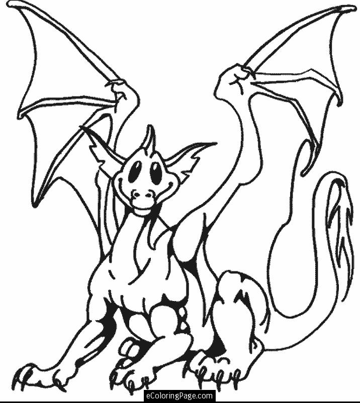 716x802 Dragon Coloring Pages To Print Many Interesting Cliparts