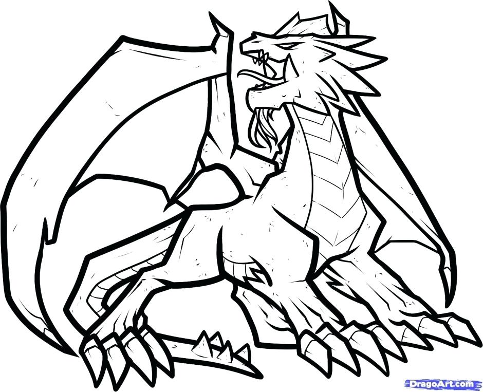 940x763 Flying Dragon Coloring Pages 1 Printable Page