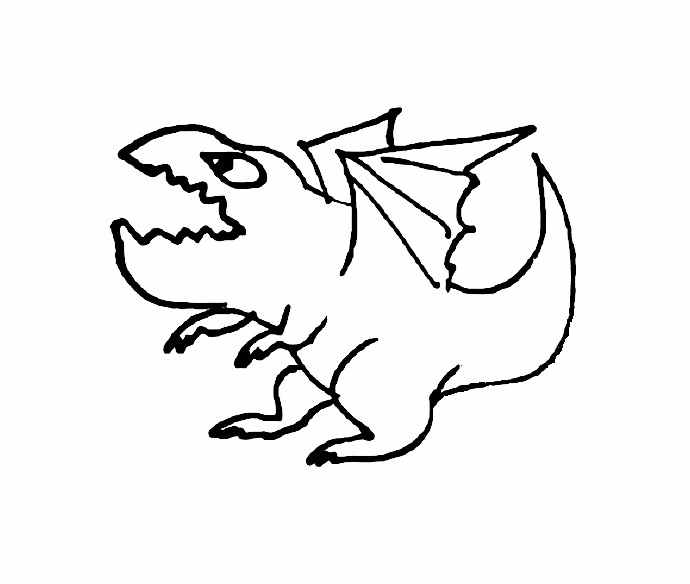 690x584 Funny Monsters And Dragons Coloring Pages