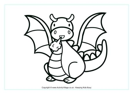 460x325 Coloring Pages Dragons