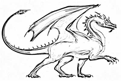 400x268 Dragons 19 Fantasy Coloring Pages. Real Dragon Coloring Pages 19