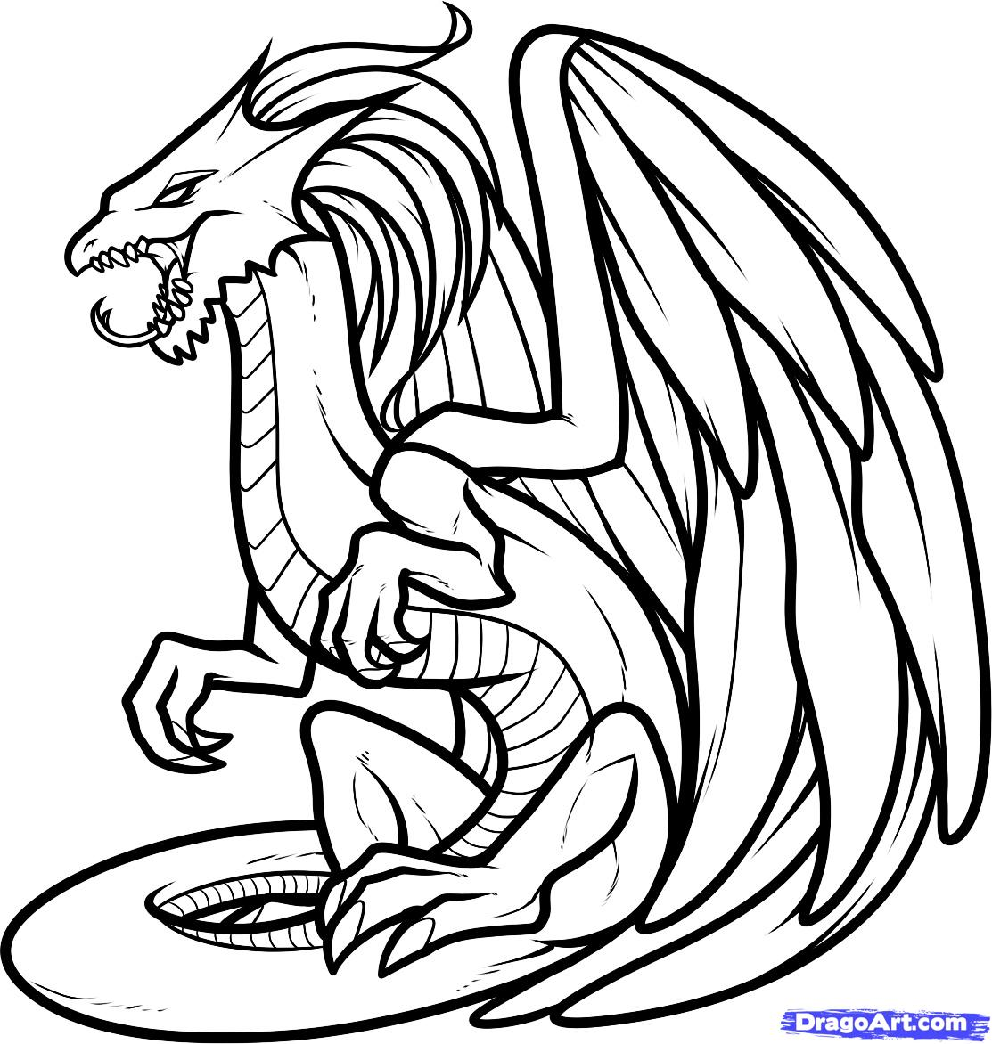 Flying Dragon Coloring Pages | Free download on ClipArtMag