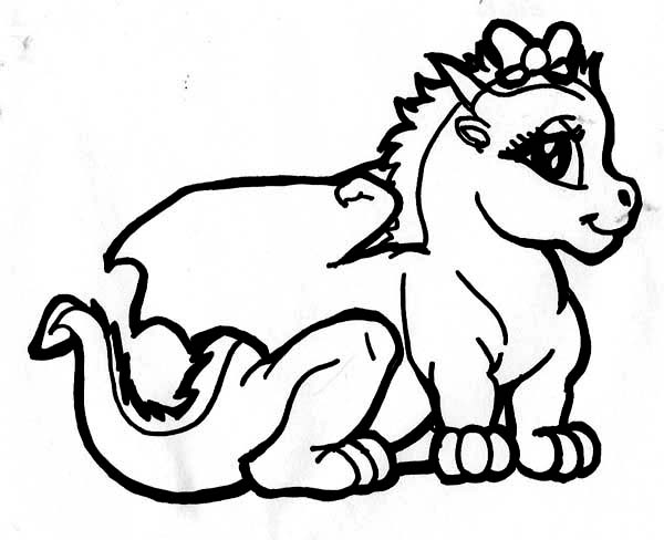 600x488 Baby Dragon Coloring Pages