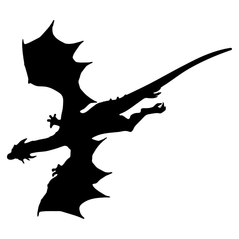800x800 15.213.3cm Flying Dragon Silhouette Creative Car Stickers Vinyl