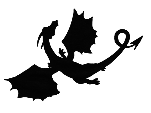 493x369 Dragon Silhouette By Gengakutaku