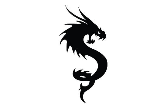 550x354 Dragon Silhouette Vector Silhouettes Vector