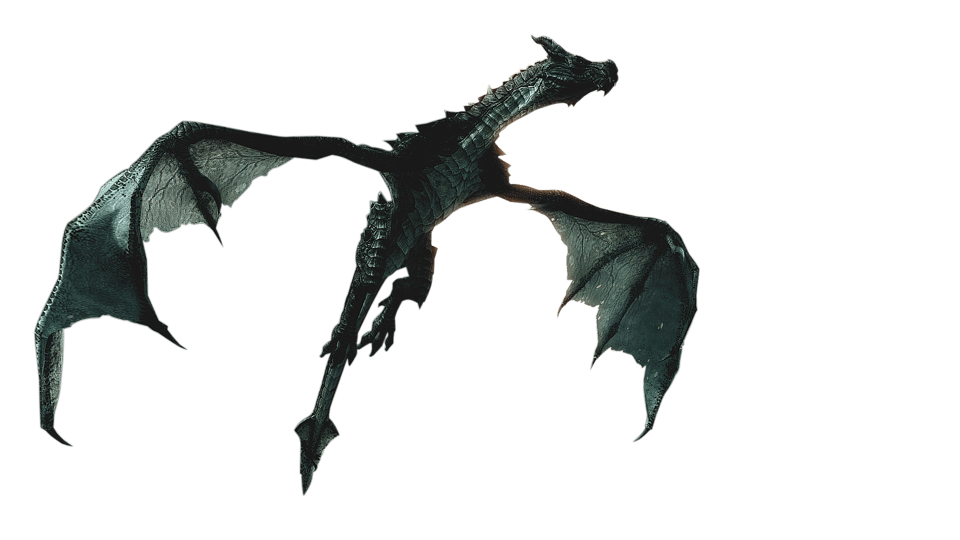 1920x1080 Elder Scrolls Skyrim Flying Dragon Transparent Png