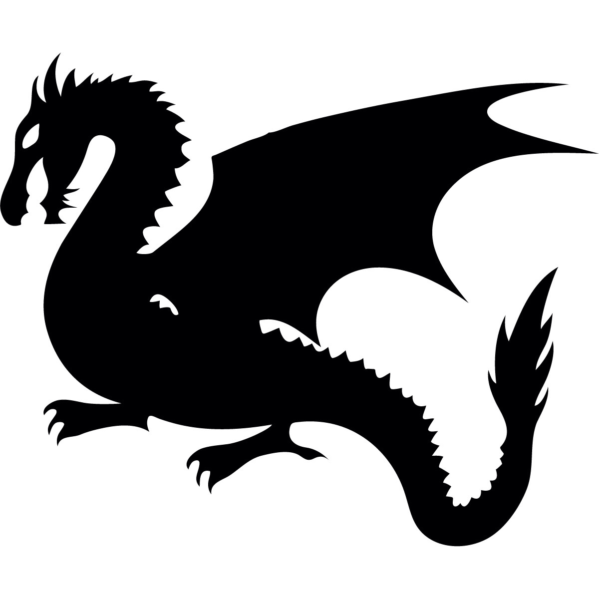 1200x1200 Silhouette Dragon Game Of Thrones Silhouette