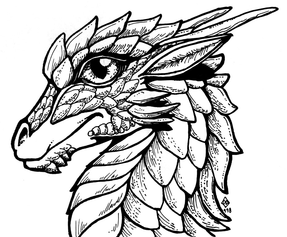 flying dragon sketch  free download on clipartmag