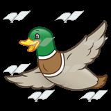 160x160 Abeka Clip Art Flying Duck