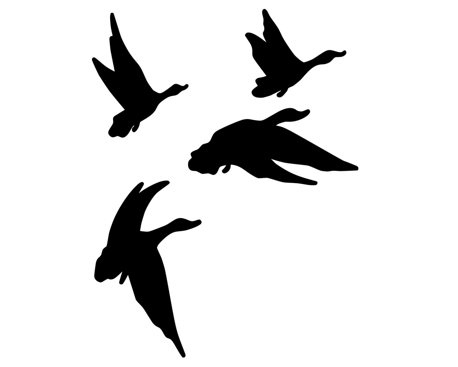 1500x1200 Duck Hunting Vinyl Sticker Geese Hunter Decal Flying Geese