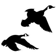236x236 Flying Geese Silhouette Clip Art