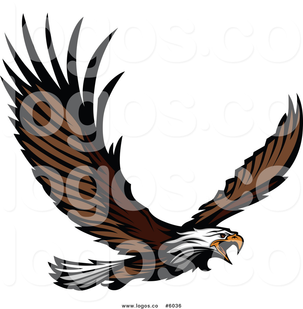 1024x1044 Royalty Free Vector Of A Logo Of A Bald Eagle Flying By Chromaco