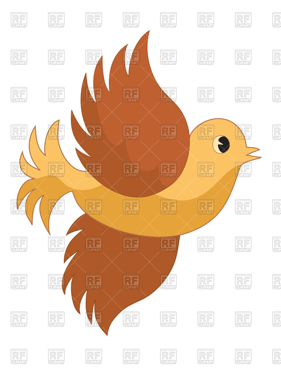 902x1200 Cute Flying Bird Royalty Free Vector Clip Art Image