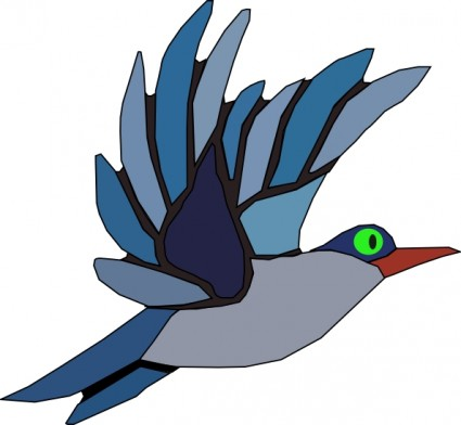 425x392 Flying Heron Clipart