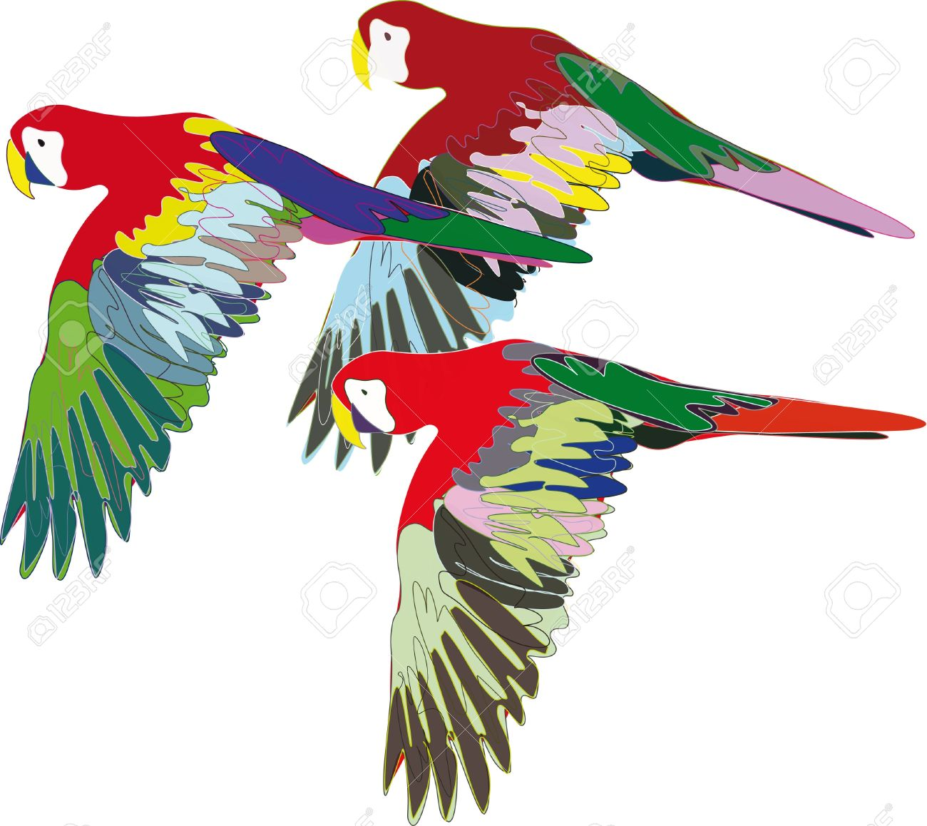 1300x1158 Parrot Clipart Colorful Bird