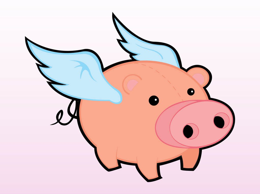 1024x765 Flying Pig Vector Art Amp Graphics