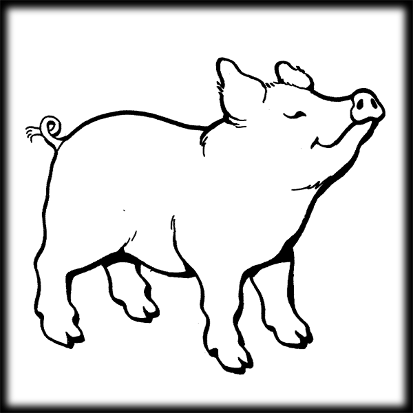 600x600 Flying Pig Clipart Image