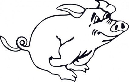 425x272 Pig Head Cartoon Vector