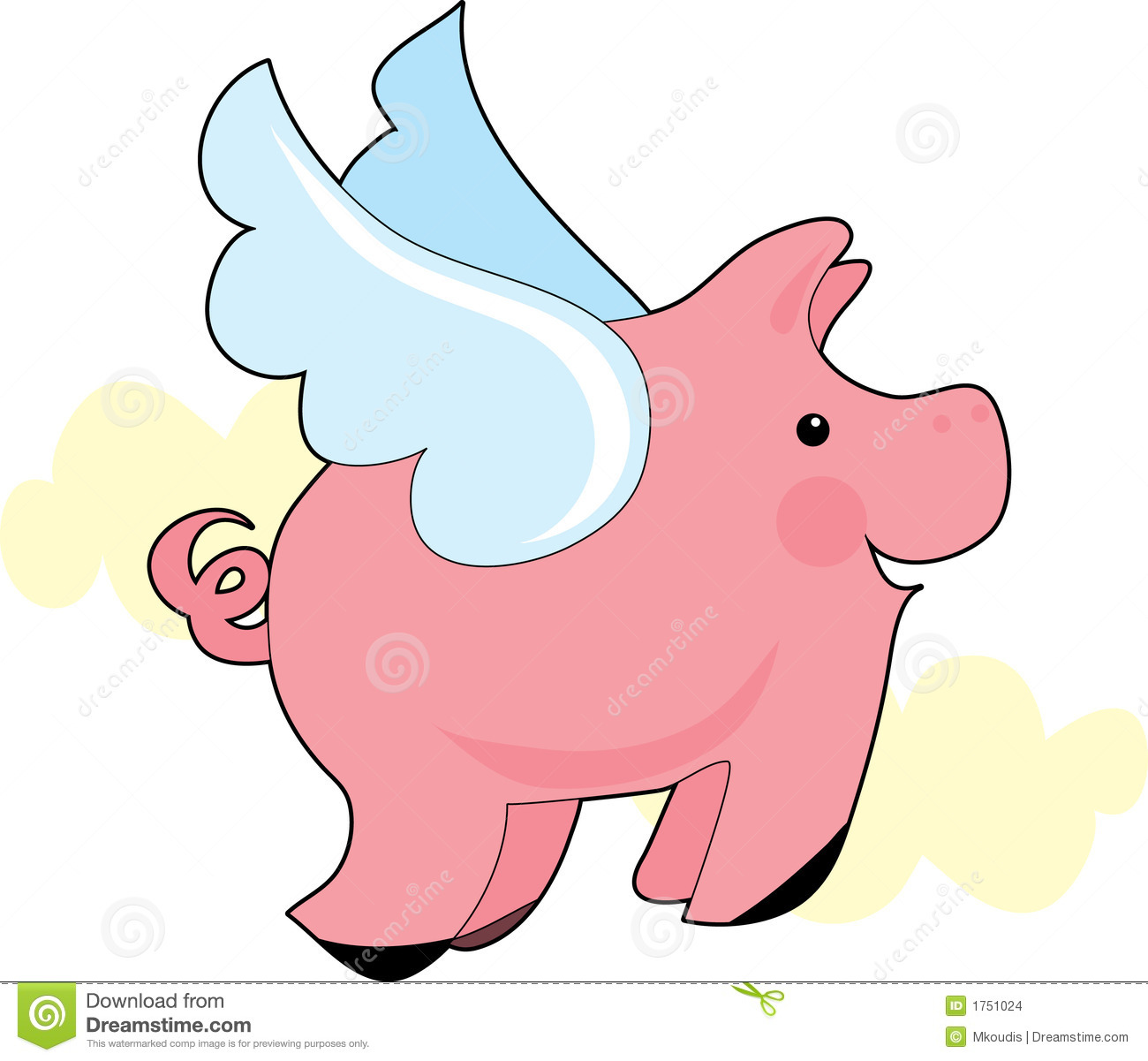 1300x1201 Wings Clipart Pig