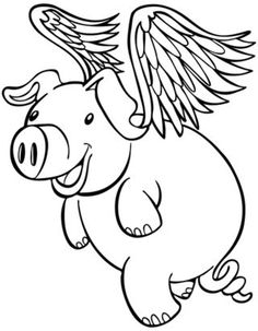 236x303 Flying Pig Clipart Black And White