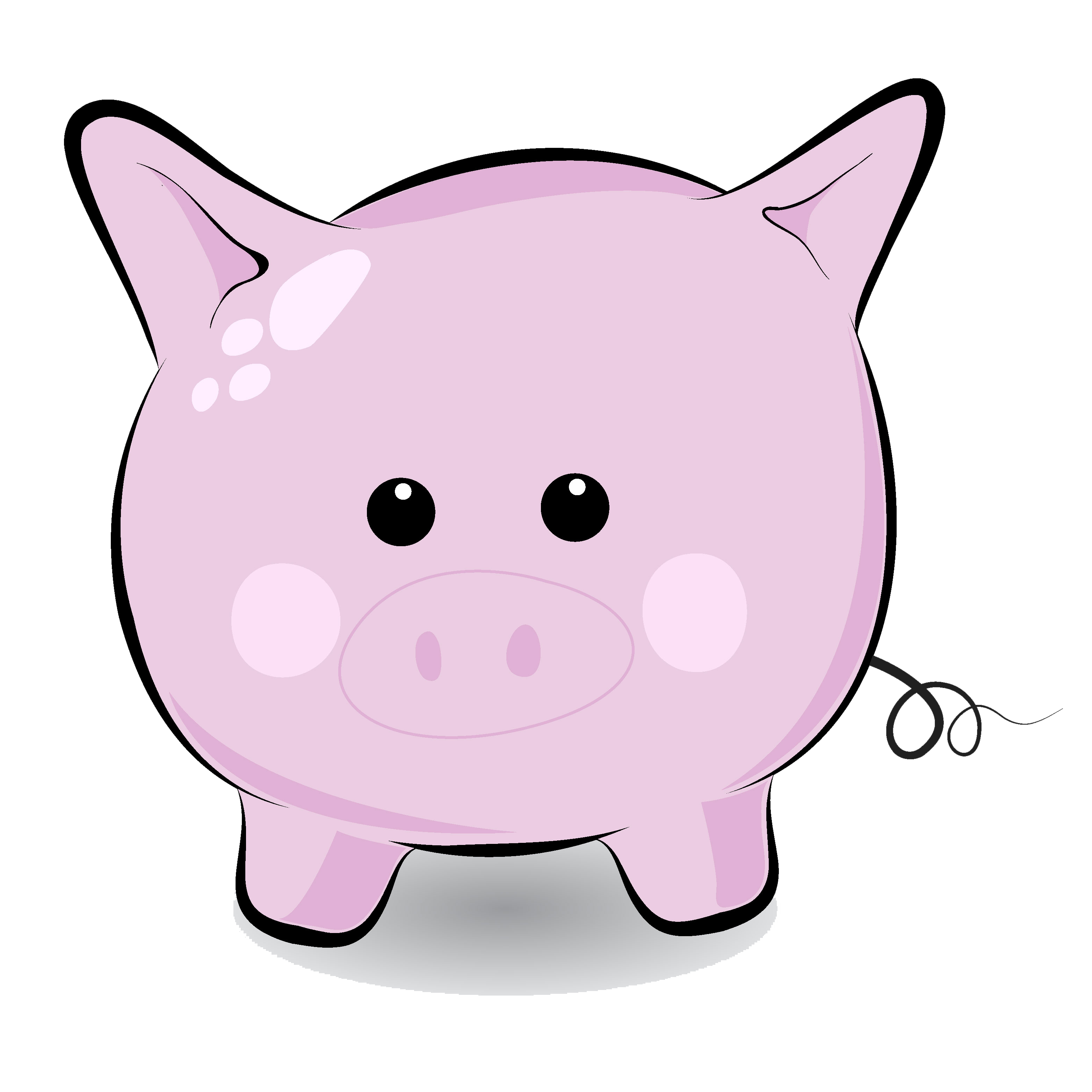3125x3125 Flying Pig Clipart