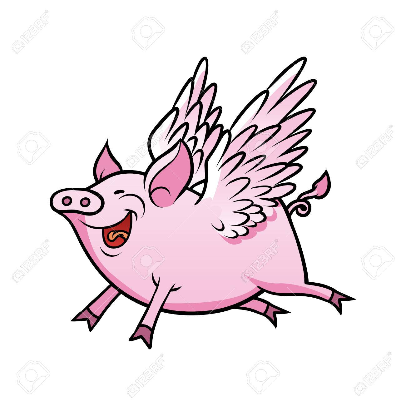 1300x1300 Flying Pig Royalty Free Cliparts, Vectors, And Stock Illustration