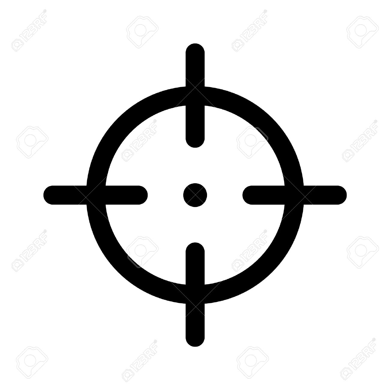 1300x1300 Snipers Clipart Aim