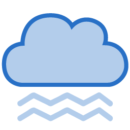 256x256 Cloud Dark Fog Icon