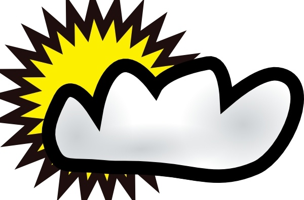 600x396 Sunny Partly Cloudy Weather Clip Art Free Vector In Open Office