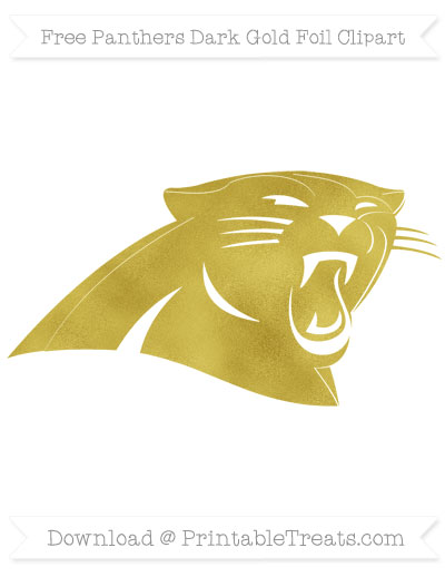 400x518 Panthers Dark Gold Foil Clipart Printable