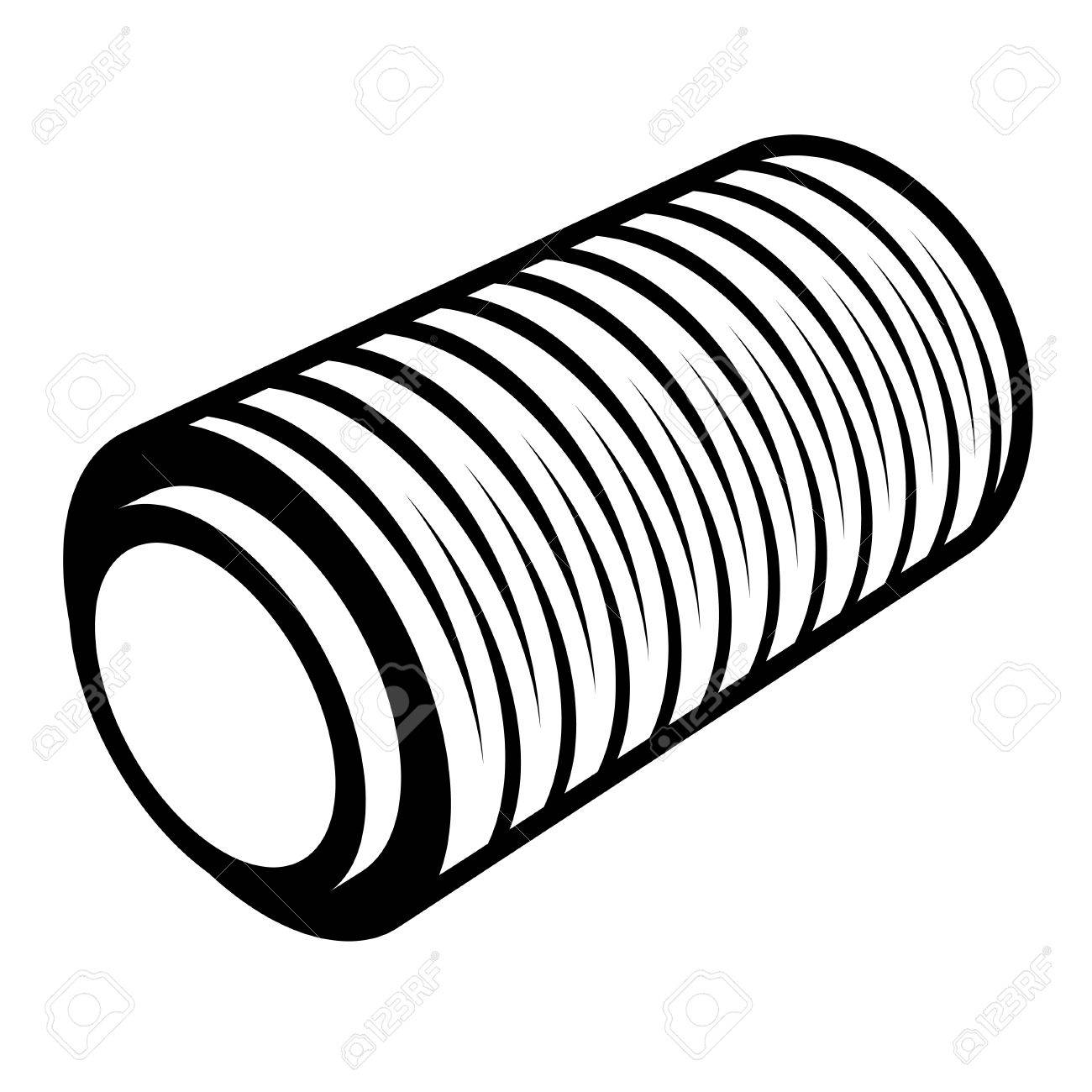 1300x1300 Roll Of Wrapping Foil Thread Spool Royalty Free Cliparts, Vectors