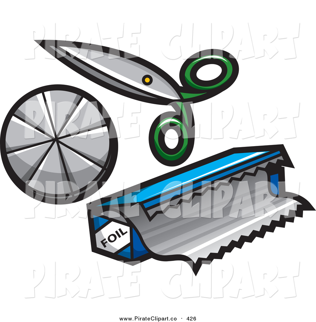 1024x1044 Vector Clip Art Of A Pair Of Scissors And Foil By Jtoons