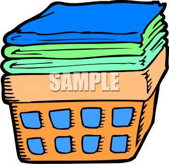 350x339 Folded Laundry Clipart