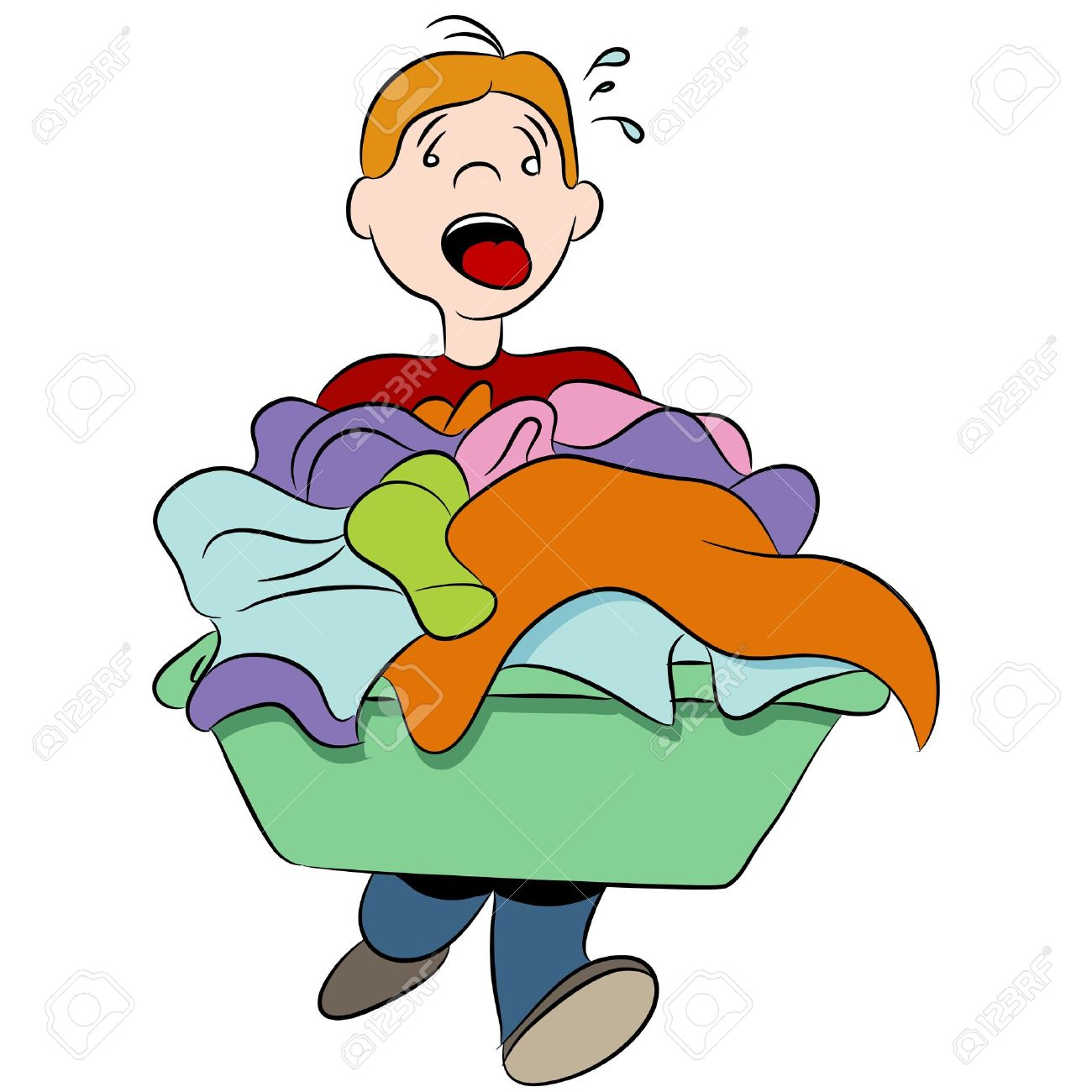 1300x1300 Kids Doing Laundry Clip Art