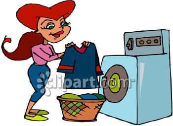 350x254 Royalty Free Clipart Image Woman Folding Laundry